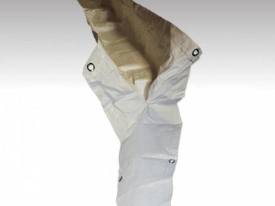 Regengoot voor partytent - 4m PVC