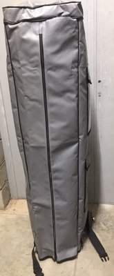 Transportzak in PVC met wielen - 4x4m