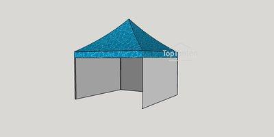 Vouwtent digitale bedrukking volledig dak