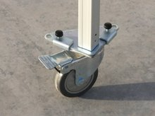 wiel met aluminium frame voor vouwtent